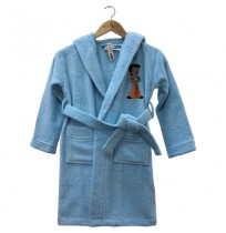 Kids Bathrobe Aqua