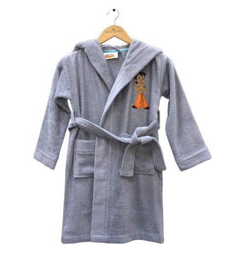 Kids Bathrobe Light Grey