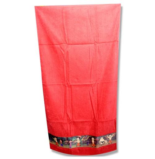 Chhota Bheem Border Print Towel - Maroon