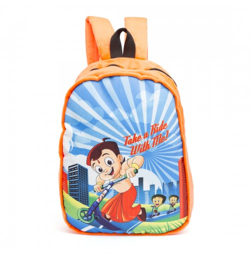 Chhota Bheem Take A Ride Plush Bag-Orange