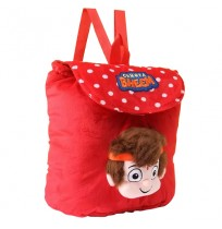 Kung Fu Dhamaka Bheem 3D Face Plush Bag - Red