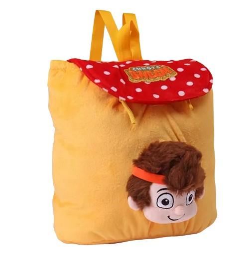 Kung Fu Dhamaka Bheem 3D Face Plush Bag - Yellow