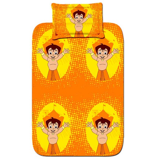 Single Bed Sheet - Orange