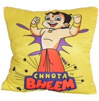 Chhota Bheem Cushion - Showing Strength - Yellow