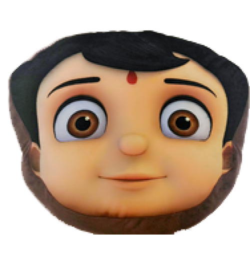 Super Bheem Face Cushion