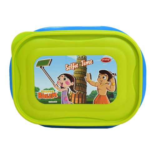 Chhota Bheem Lunch Box Light Green & Blue