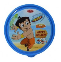 Chhota Bheem Round Steel Lunch Box Blue