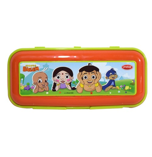 Chhota Bheem Pencil Box Light Green and Orange