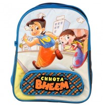 Chhota Bheem School Bag - Blue and Grey
