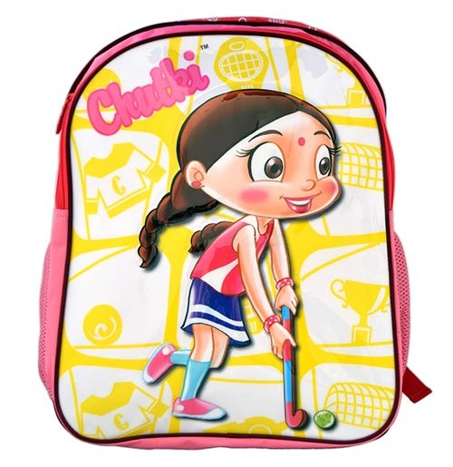 Chhota Bheem School Bag - Dark Pink
