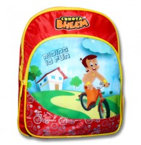 Chhota Bheem School Bag - Red and Yellow