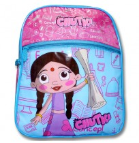 Chutki School Bag - Blue and Pink