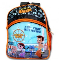 Chhota Bheem School Bag - Black and Orange