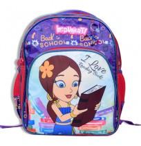 Indumati School Bag 3 Zipper - Purple