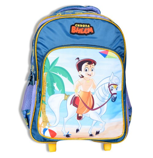 Chhota Bheem Trolley Bag - Dark Sea Green