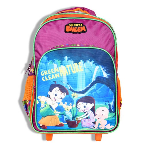 Chhota Bheem Trolley Bag - Falsa and Orange