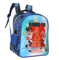 Kung Fu Dhamaka Blue Bheem & Ming School Bag