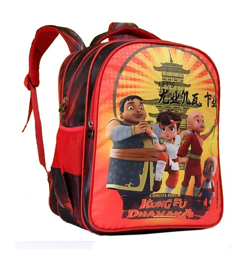 Kung Fu Dhamaka Red Bheem & Friends School Bag