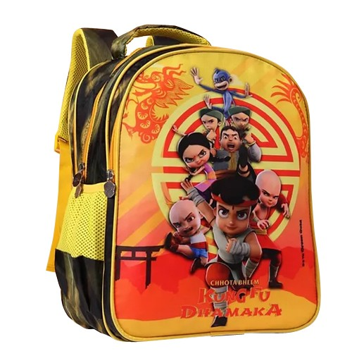 Kung Fu Dhamaka Bheem & Friends Yellow School Bag