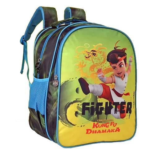 Kung Fu Dhamaka Chhota Bhem Green Fighter School Bag