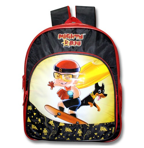 Mighty Raju School Bag - Black and Red