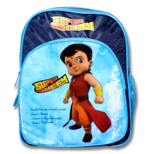 Super Bheem School Bag - Blue