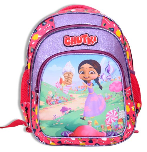 Chutki School Bag 3 Zipper - Pink