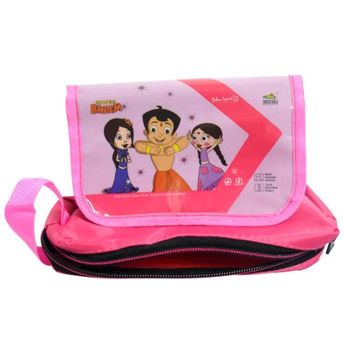 Chhota Bheem Pouch Pink With Flap