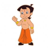 Chhota Bheem Wooden Cutout - Stylish