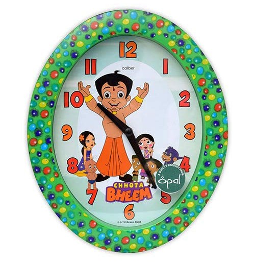 Chhota Bheem Oval Wall Clock