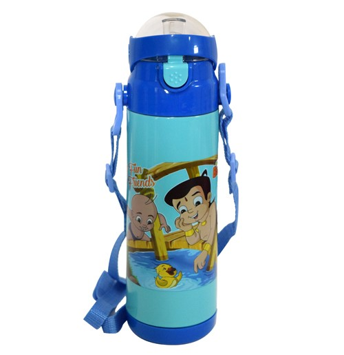 Chhota Bheem Insulated Vacuum Steel Water Bottle Blue