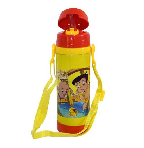 Chhota Bheem Insulated Vacuum Steel Water Bottle Yellow & Red