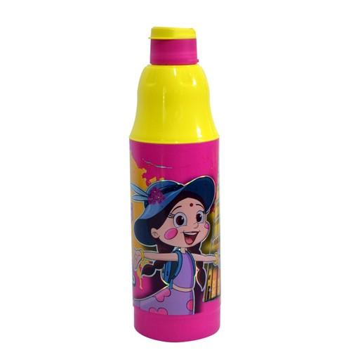 Chhota Bheem Water Bottle Pink and Yellow