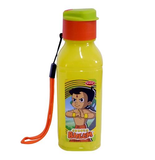 Chhota Bheem Water Bottle Light Green and Orange