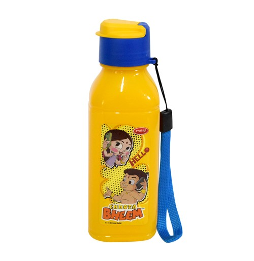 Chhota Bheem Water Bottle Yellow and Blue