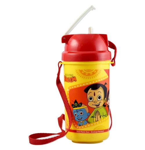 Chhota Bheem Water Bottle - Red and Yellow