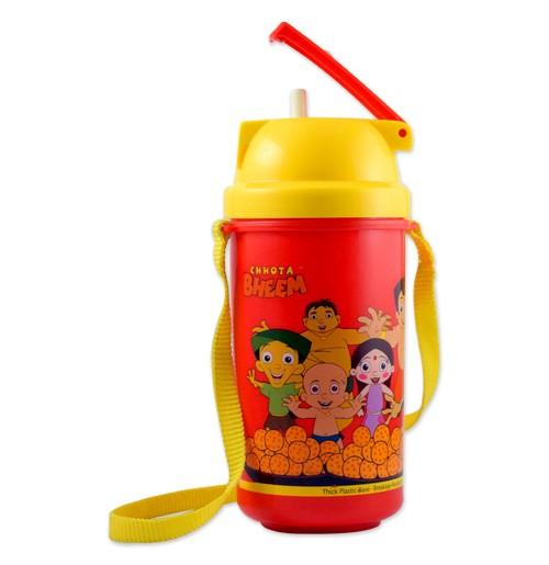 Chhota Bheem Water Bottle - Red and Yellow