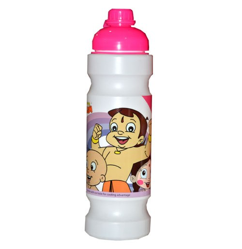 Chhota Bheem Sipper Bottles-White-Pink
