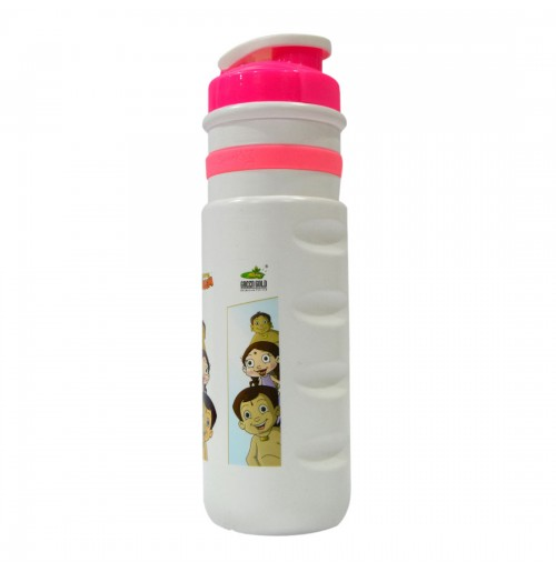 Pull Flap Water Bottle Chhota Bheem - Pink and White
