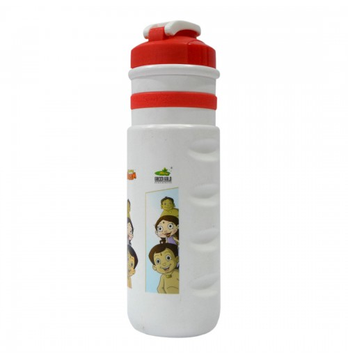 Pull Flap Water Bottle Chhota Bheem - Red and White