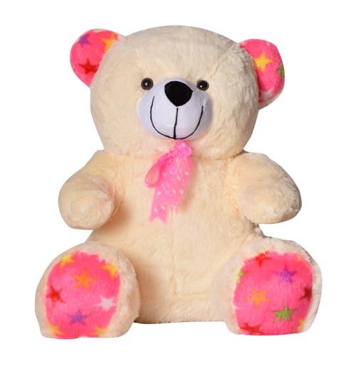 13 Inch Valentine Bow Teddy Bear Cream