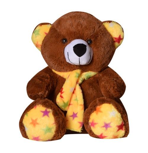 13 Inch Valentines Day Scarf Teddy Bear brown