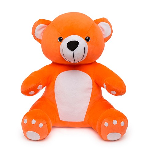Soft Hug Teddy bear Orange 36 Cm