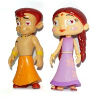 2 in 1 Chhota Bheem and Chutki Action Figure