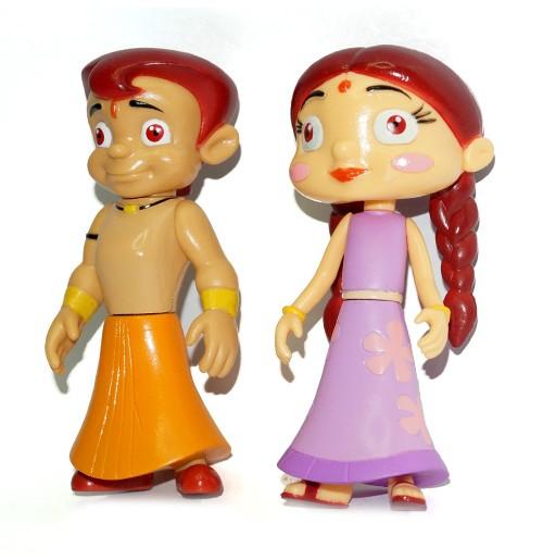 2-IN-1 Chhota Bheem and Chutki Action Figure