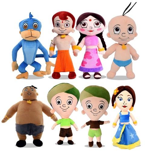Chhota Bheem 8 in 1 Soft Plush Toys